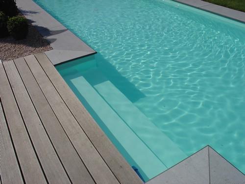 Blokit zwembad groene liner en zij inlooptrap aquacenter hoveniertje wellen - Zwembad kleur liner ...
