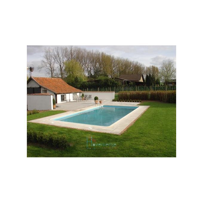 Blokit zwembad rechthoekig met inox ladder aquacenter for Rechthoekig zwembad